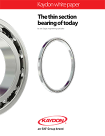 Thin section bearings provide space and weight savings - The thin section bearing of today - Kaydon Bearings white paper